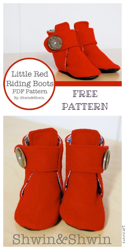 DIY Little Red Riding Boots Free Sewing Patterns