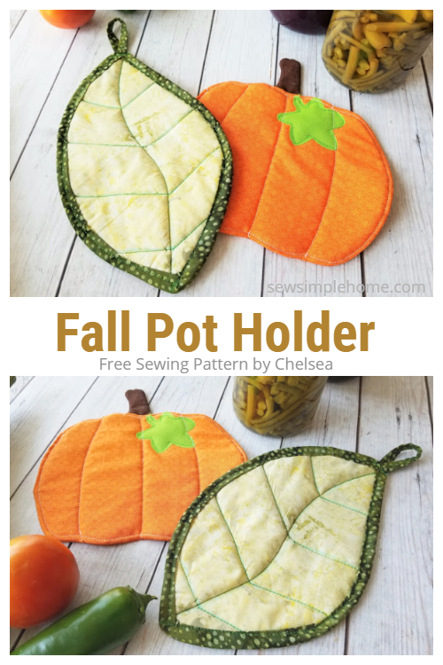 DIY Quilted fALL Leaf Potholders Free Sewing Patterns