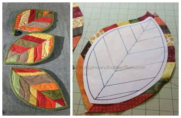 DIY Quilted Leaf Potholders Free Sewing Patterns & Paid