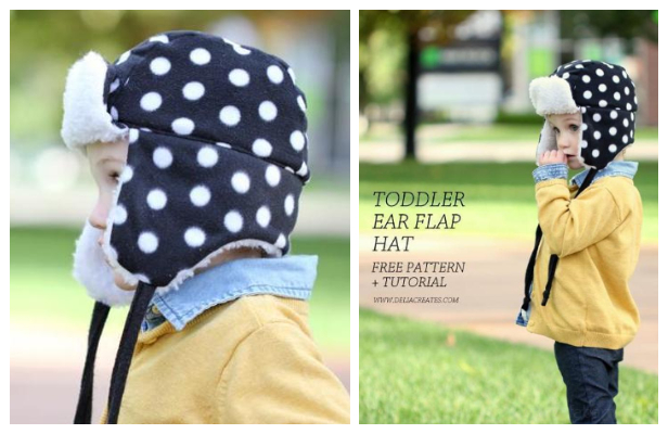 DIY Toddler Ear Flap Hat Free Sewing Pattern