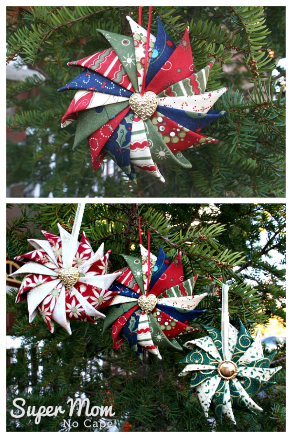 Prairie Point Star Ornament Christmas Patchwork Ornament Free Patterns