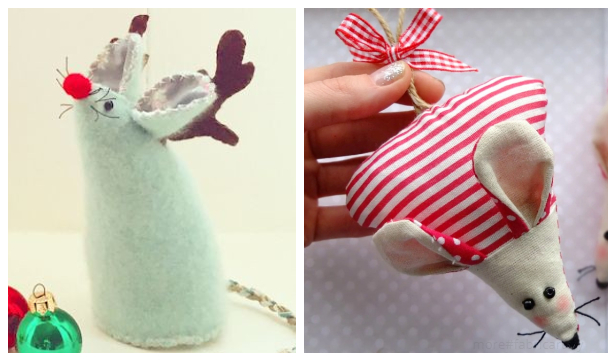Christmas Mouse Ornament Free Sewing Patterns