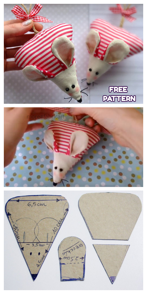 Christmas Mouse Free Sewing Patterns