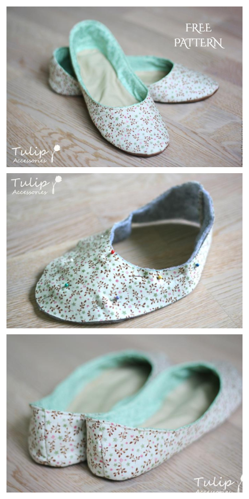 DIY Ballet House Slippers Free Sewing Pattern + Video