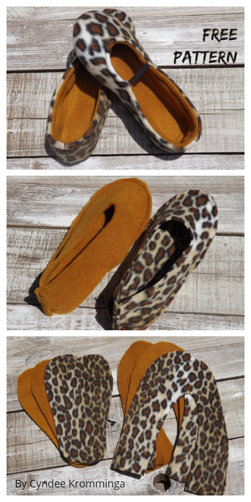 DIY Fleece Slippers Free Sewing Patterns