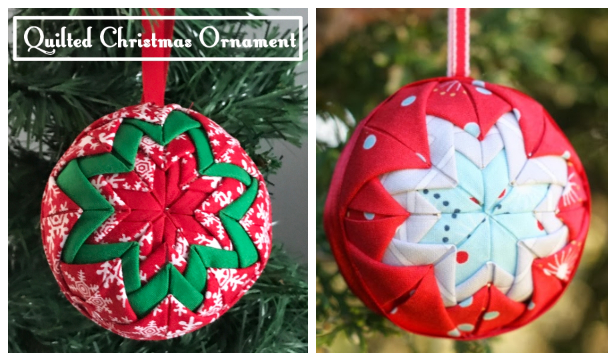 DIY No Sew Patchwork Christmas Star Ornament Free Patterns