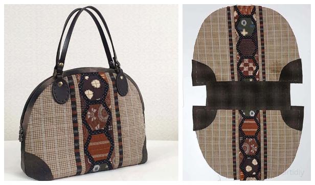 DIY Patchwork Handbag Free Sewing Pattern + Video