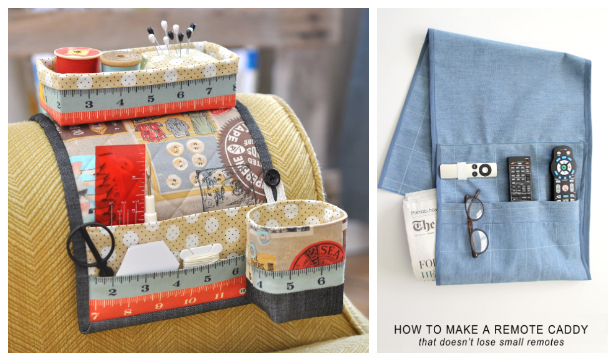 DIY Sofa Armchair Caddy/Organizer Free Sewing Patterns