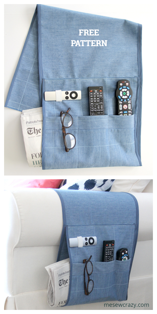 DIY Sofa Remote Caddy Free Sewing Patterns