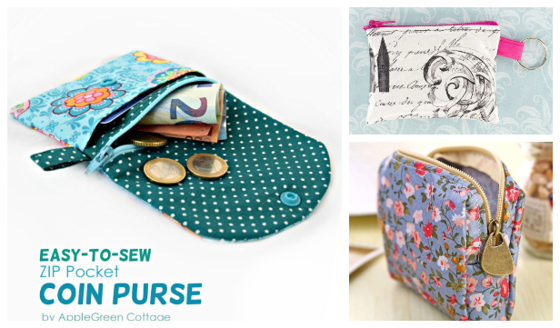 DIY Zippered Coin Purse Free Sewing Patterns + Video