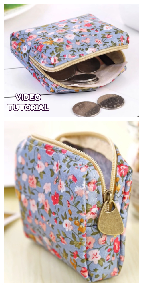 DIY Zippered Coin Purse Sewing Patterns + Tutorial