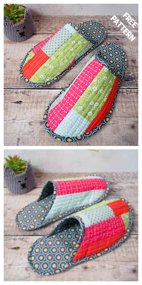 Fabric Spa Slippers Free Sewing Patterns + Video