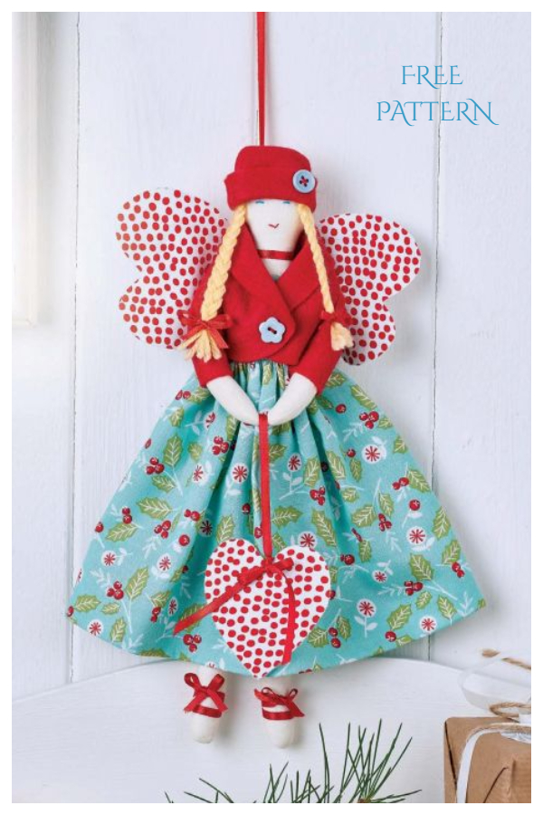 DIY Fabric Christmas Angel Ornament Free Sewing Patterns