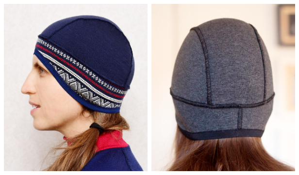 fDIY Fabric Running Hat Free Sewing Pattern