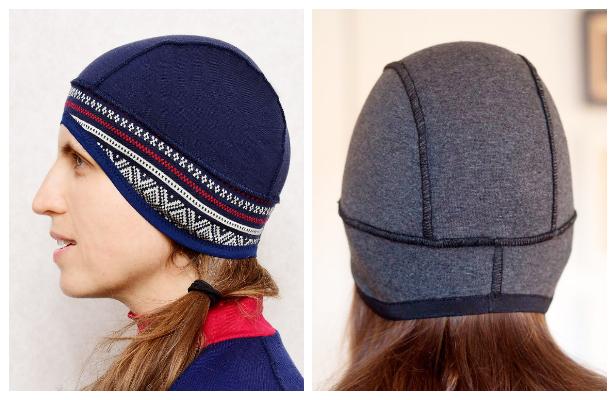 DIY Fabric Running Hat Free Sewing Pattern