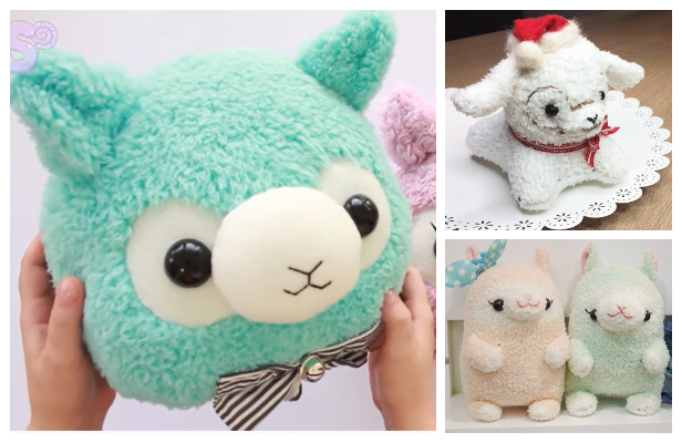 DIY Fabric Toy Alpaca / Llama Free Sewing Patterns + Video