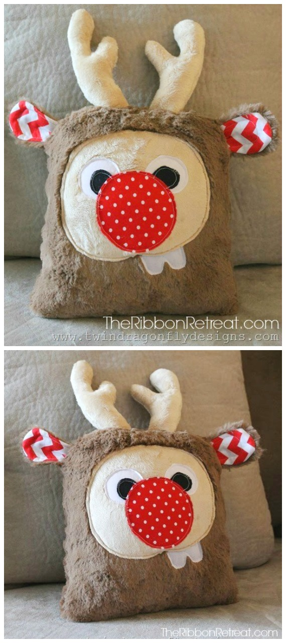 DIY Holiday Plush Reindeer Free Sewing Pattern + Tutorial