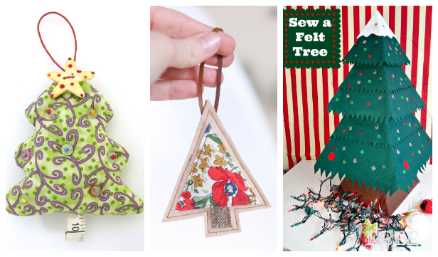DIY Fabric Christmas Tree Free Sewing Pattern + Video