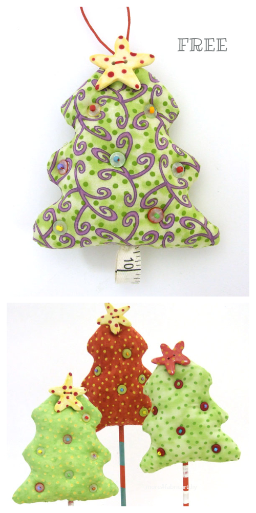 DIY Fabric Scraps Tree Free Sewing Pattern