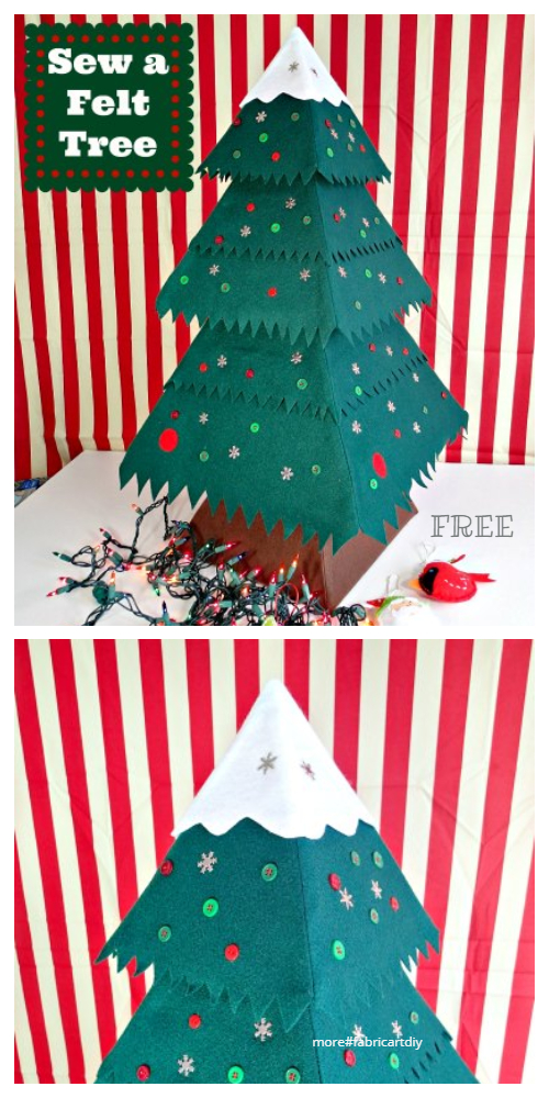DIY Tiny Tree Decorations Free Sewing Pattern