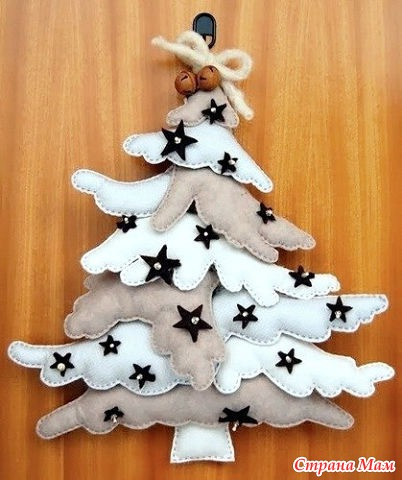 DIY Fabric Angel Wing Christmas Tree Free Sewing Pattern