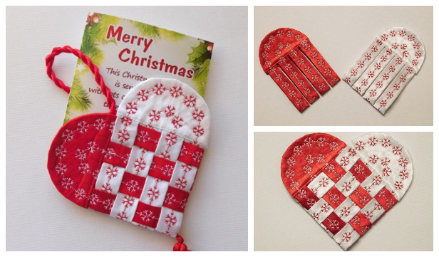 DIY Fabric Scandinavian Heart Gift Pouch Free Sewing Pattern