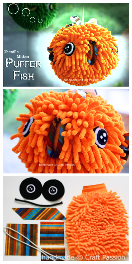 DIY Easy PufferFish Doll Free Sewing Pattern + Tutorial