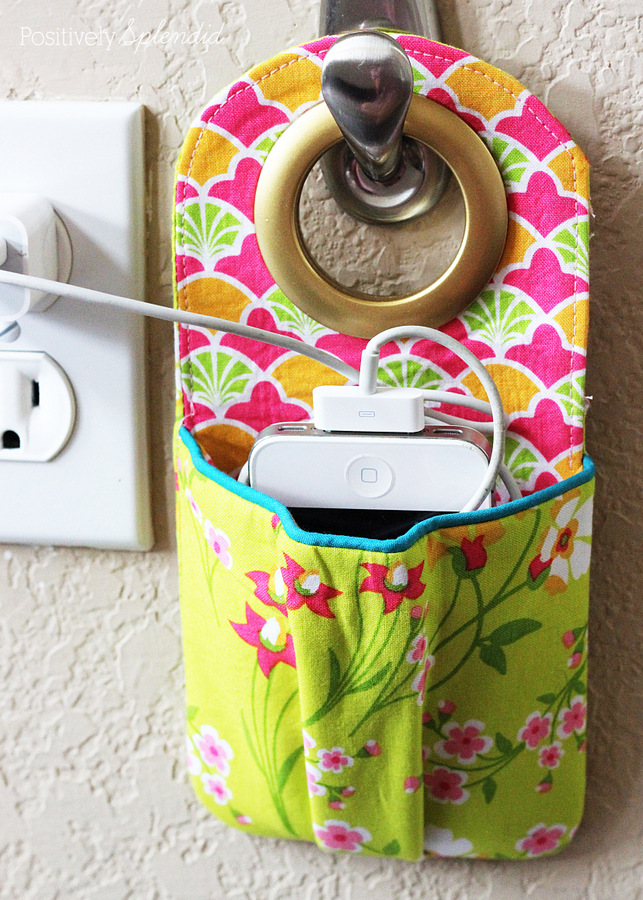 DIY Fabric Phone Charger Station Free Sewing Pattern + Tutorial