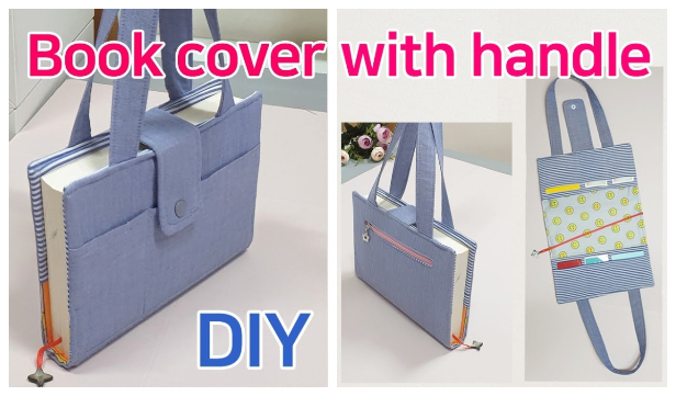 DIY Carry-On Fabric Book Cover Free Sewing Pattern + Video