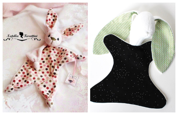 DIY Fabric Bunny Lovey Free Sewing Patterns – Tutorials