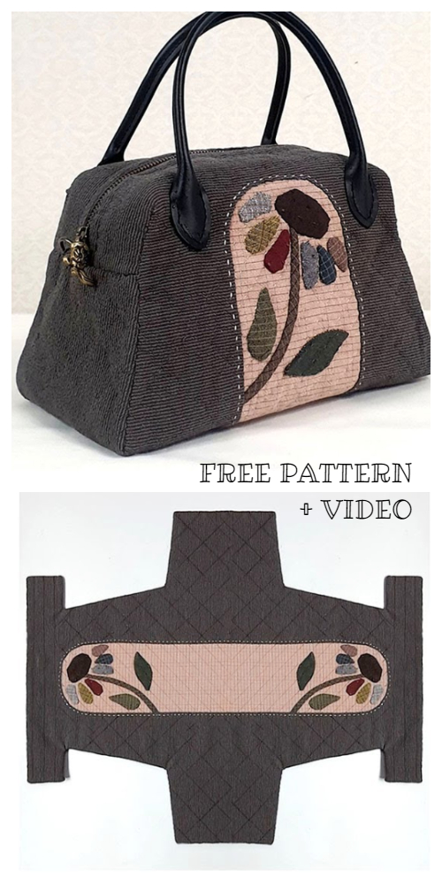 DIY One-Piece Fabric Quilt Bag Free Sewing Pattern + Video