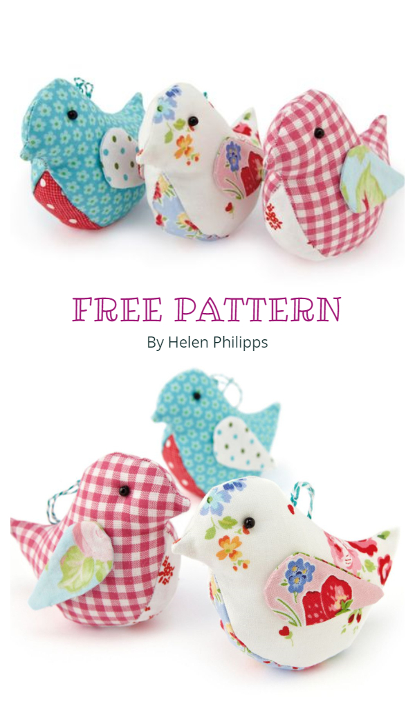 DIY Quilt Spring Fabric Bird Free Sewing Patterns