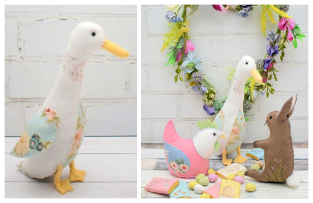 DIY Stuffed Fabric Goose Free Sewing Patterns