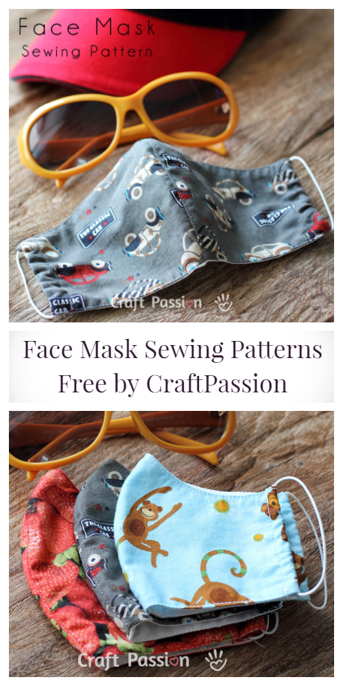 Fabric Face Mask Free Sewing Patterns + Video