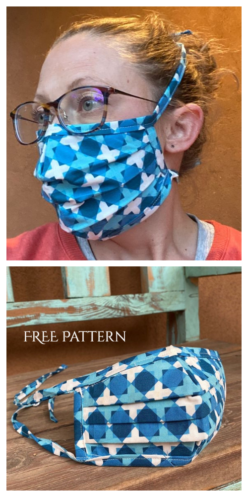 DIY Fabric Face Mask Free Sewing Patterns