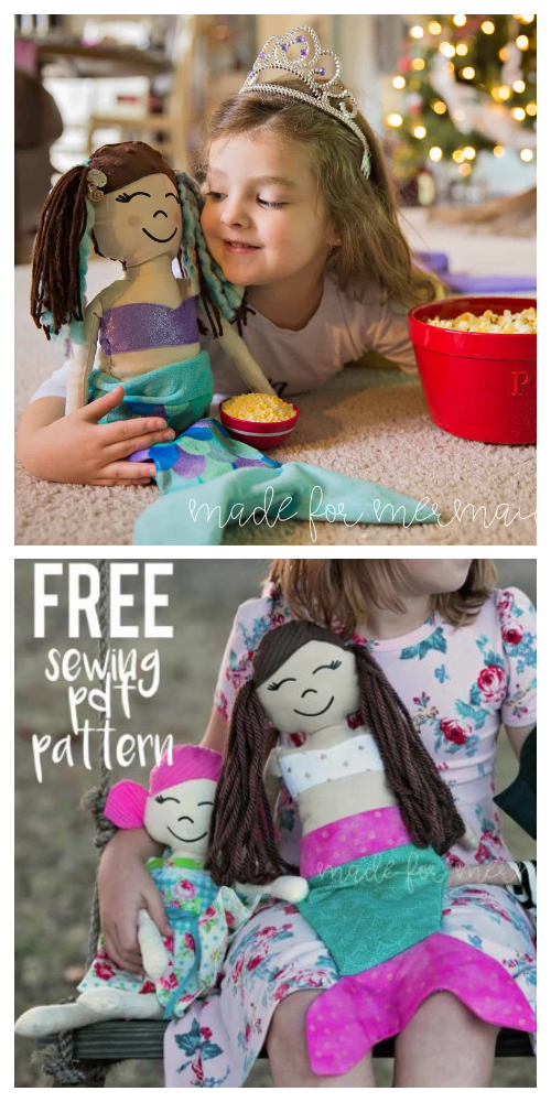 DIY Fabric Mermaid Pirate Doll Free Sewing Patterns
