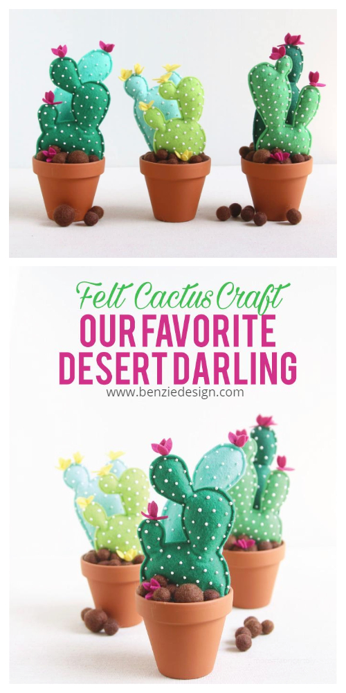 DIY Felt Cactus Free Sewing Pattern