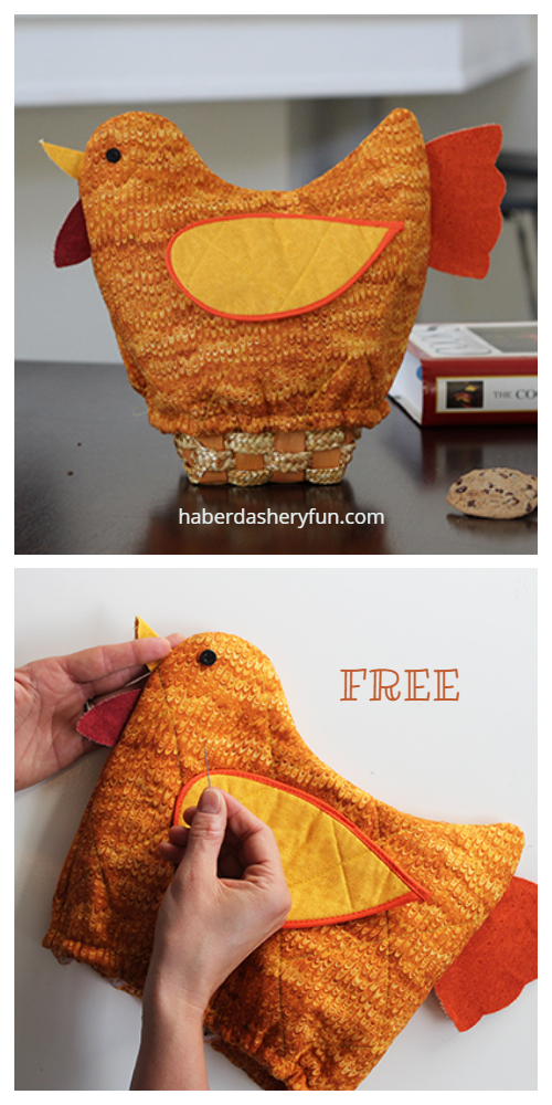 DIY Quilt Turkey Bread Basket Cover Free Sewing Pattern