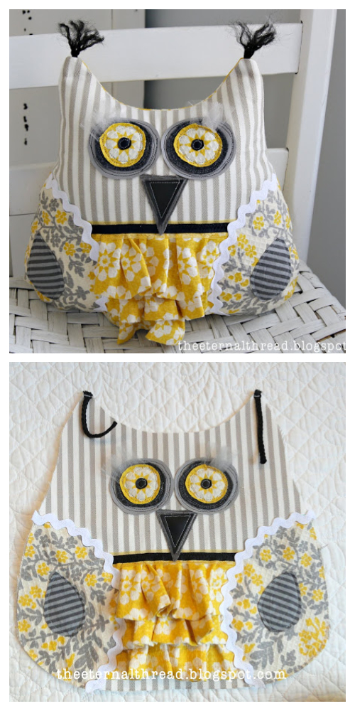 DIY Scrappy Owl Free Sewing Pattern and Tutorial