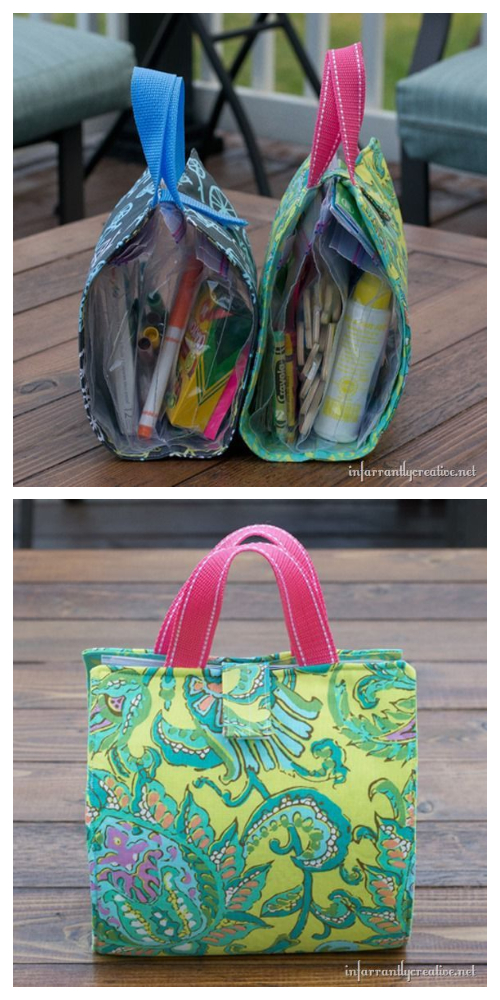 Fabric Kids Busy Bag Free Sewing Patterns
