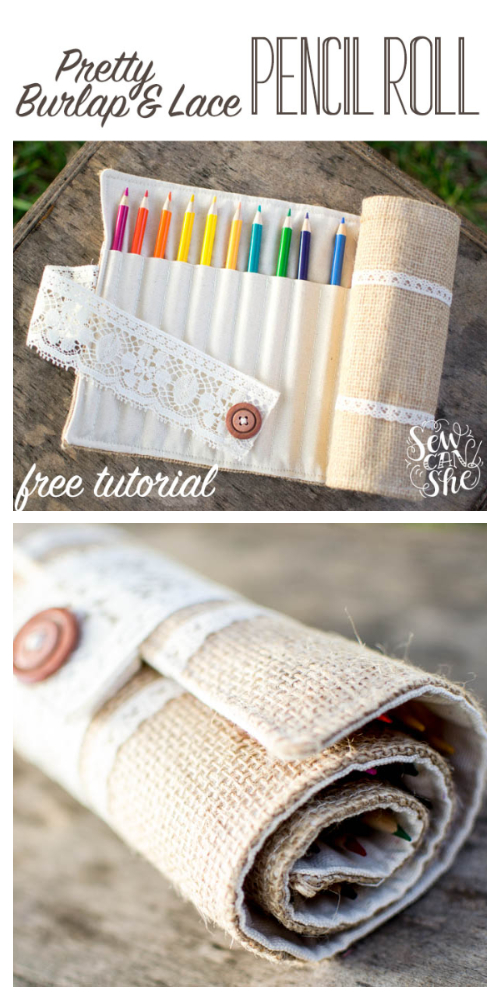 Fabric Pencil Roll Free Sewing Pattern