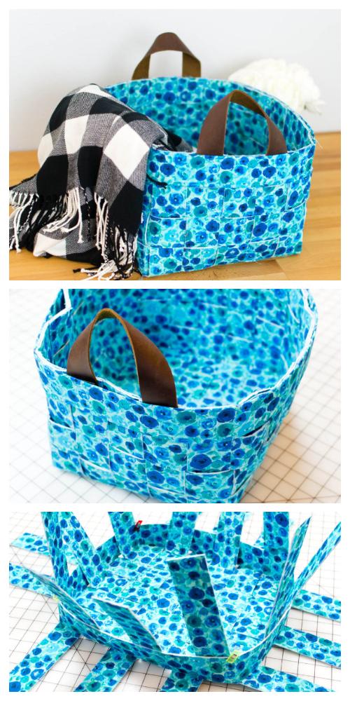Fun Woven Basket Free Sewing Pattern