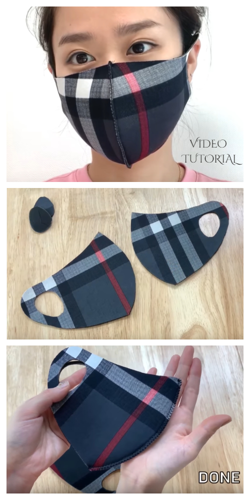 DIY Easy Neoprene Fabric Face Mask Free Sewing Video Tutorial