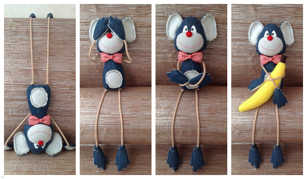 DIY Fabric Monkey Toy Free Sewing Pattern