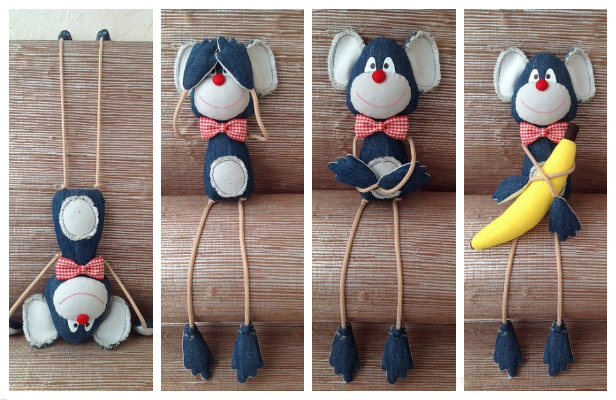 DIY Fabric Monkey Toy Free Sewing Pattern