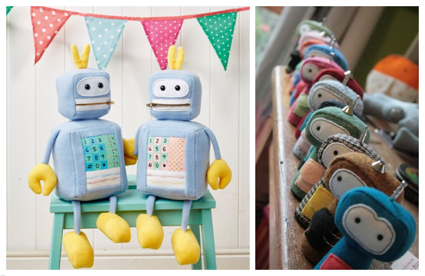 DIY Fabric Robot Toy Free Sewing Patterns