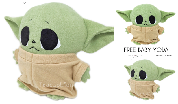 DIY Fabric Yoda Plush Toy Free Sewing Pattern