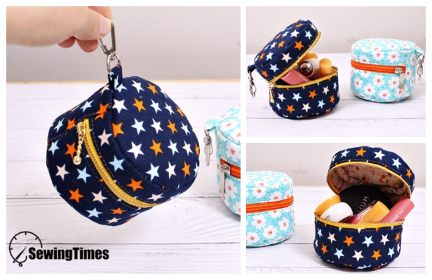 DIY Mini Macaroon Makeup Bag Free Sewing Pattern + Video