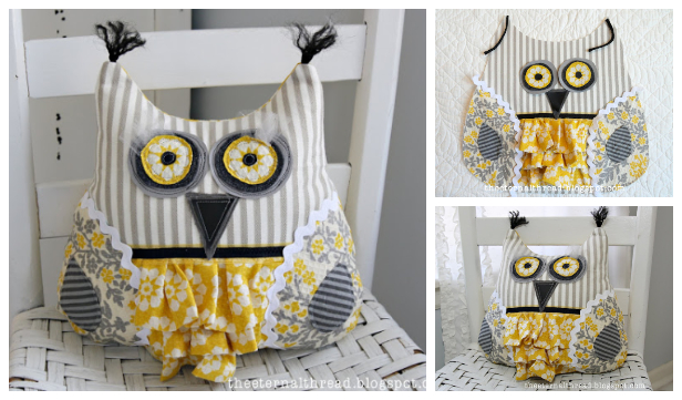 fabricartdiy DIY Scrappy Owl Free Sewing Pattern fDIY Scrappy Owl Free Sewing Pattern