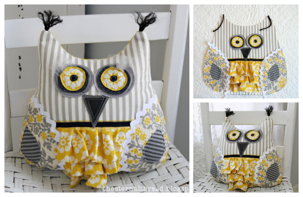 DIY Scrappy Owl Free Sewing Pattern